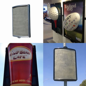 Fibreglass Street Pole Billboards