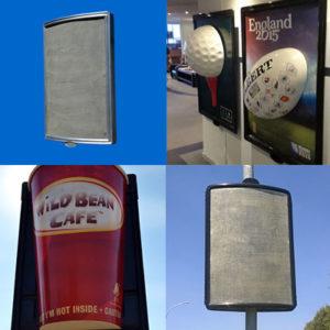 Street Pole Fibreglass Billboards