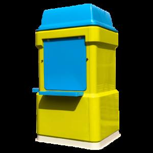 Blue And Green Fibreglass Kiosk Yellow 450x450