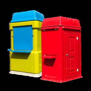 red fibreglass kiosk